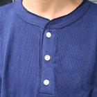 More photos1: OLD FASHION (オールドファッション) サーマルリブヘンリーネックカットソー【MADE IN U.S.A】『米国製』/ デッドストック