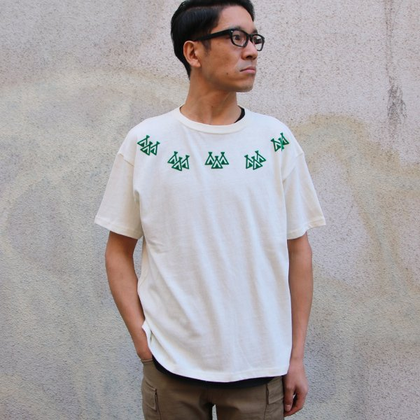 画像2: Riding High / CULTURE FLOCKY PRINT S/S TEE(TIPI TENT)【MADE IN JAPAN】『日本製』