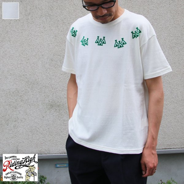 画像1: Riding High / CULTURE FLOCKY PRINT S/S TEE(TIPI TENT)【MADE IN JAPAN】『日本製』