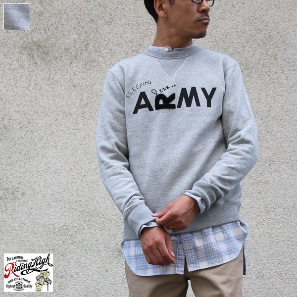 画像1: Riding High / P&F Crew Sweat L/S(R193-0305)【MADE IN JAPAN】【送料無料】