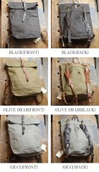 More photos3: CANVAS×LEATHER ROLLTOP Rucksack[VS-205P]【MADE IN JAPAN】『日本製』【送料無料】  / vasco【一部ご予約・9月中旬予定】