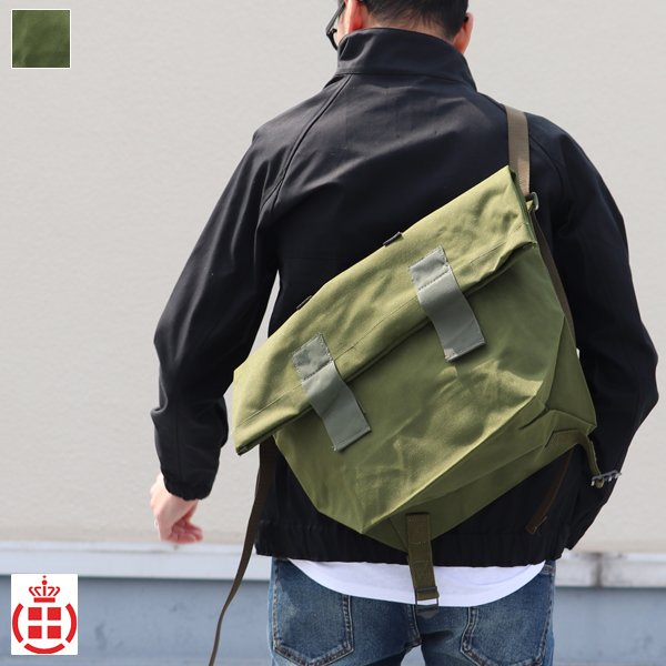 画像1: DEADSTOCK/ Danish Army 80'sMessenger Bag(デンマーク軍ナイロン2Wayメッセンジャーバッグ/パスケース無し)