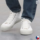 DEAD STOCK / Czech Army Hi Cut Canvas Sneaker-White-(チェコ軍 ミリタリートレーナーシューズ/White)