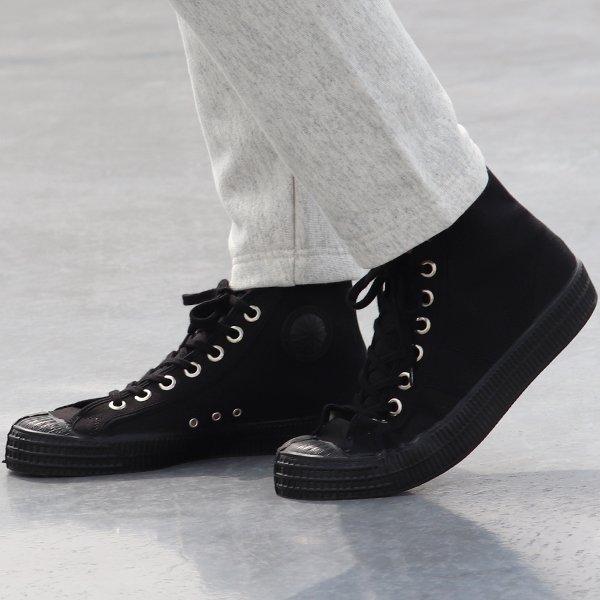画像2: DEAD STOCK / Czech Army Hi Cut Canvas Sneaker-Black-(チェコ軍 ミリタリートレーナーシューズ/Black)