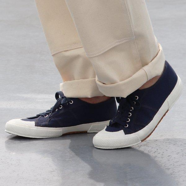 画像2: DEAD STOCK / 90-00s Italian Navy Sailor Shoes(イタリア セーラー シューズ ネイビー)