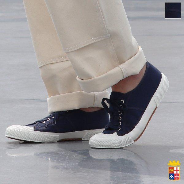 画像1: DEAD STOCK / 90-00s Italian Navy Sailor Shoes(イタリア セーラー シューズ ネイビー)