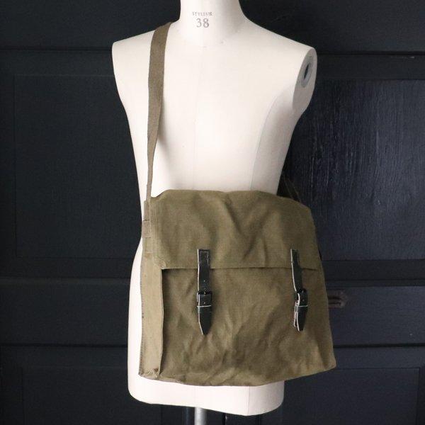画像2: DEAD STOCK  / Italian Army Canvas Shoulder Bag(イタリア軍 WW2キャンバス ショルダーバッグ)