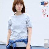 USAファブリック丸胴国産ポケットTEE [Lady's] 【FABRIC MADE IN USA】【ASSEMBLED IN JAPAN】『日本製』