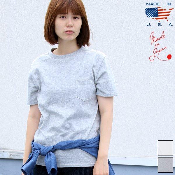 画像1: USAファブリック丸胴国産ポケットTEE [Lady's] 【FABRIC MADE IN USA】【ASSEMBLED IN JAPAN】『日本製』