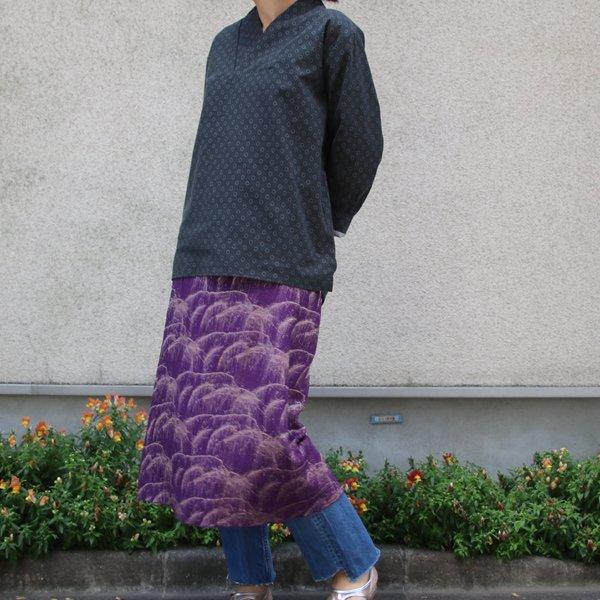 画像5: コットンクロス小紋柄キモノVネックプルオーバー9分袖_Shirts【MADE IN JAPAN】『日本製』/ Upscape Audience