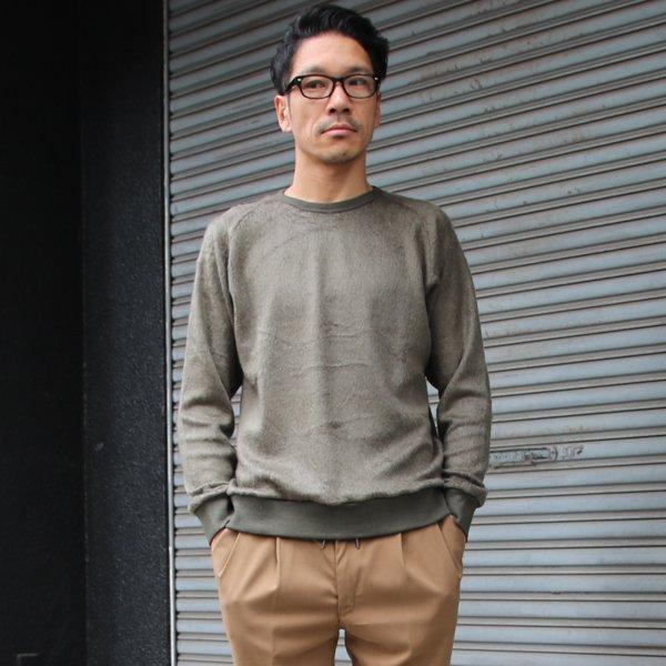 画像2: パイルシャギー サドルショルダー C/N L/S ニットソー【MADE IN JAPAN】『日本製』/ Upscape Audience