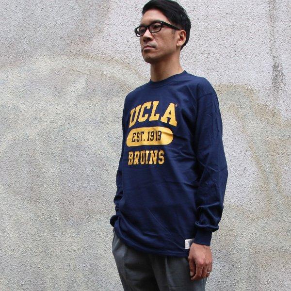 """画像2: UCLA""""3段カレッジプリント"""" 6oz米綿丸胴L/S Tee/ Audience"""