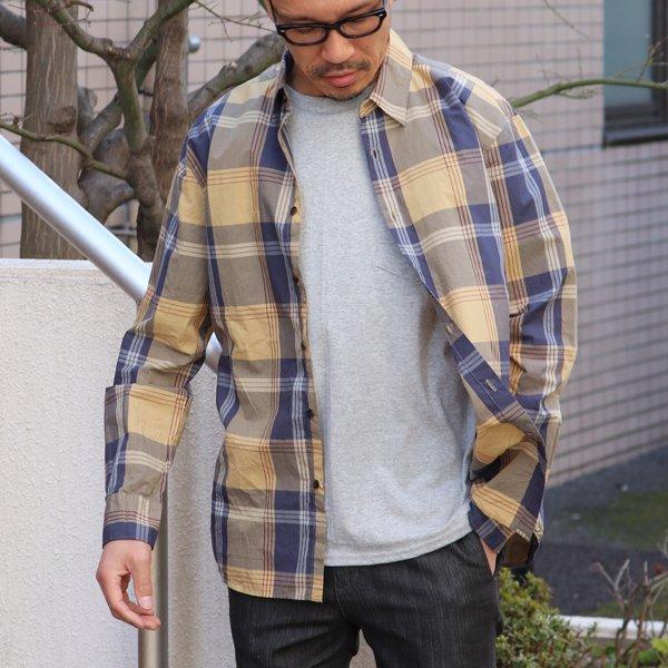 画像2: タイプライター 大判チェック ルーズFIT 裏前立 レギュラーカラー L/Sシャツ【MADE IN JAPAN】『日本製』/ Upscape Audience
