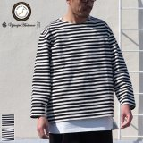 VORTEX 8オンス(MVS天竺)ロシアンボーダー ボートネック ボクシー Tee【MADE IN JAPAN】『日本製』/ Upscape Audience