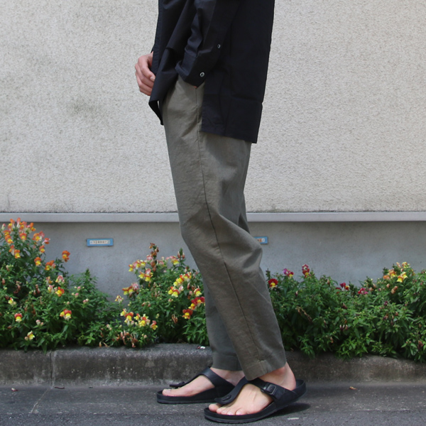 1f69e982c24 ソフトリネンキャンバスワイド イージータックアンクルパンツ【MADE IN JAPAN】『日本製』【送料無料】/ Upscape Audience  [AUD3414]
