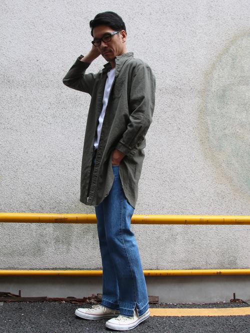 6089d02fa5956 ソフトリネンコットンキャンバスローマシャツコート【MADE IN JAPAN ...